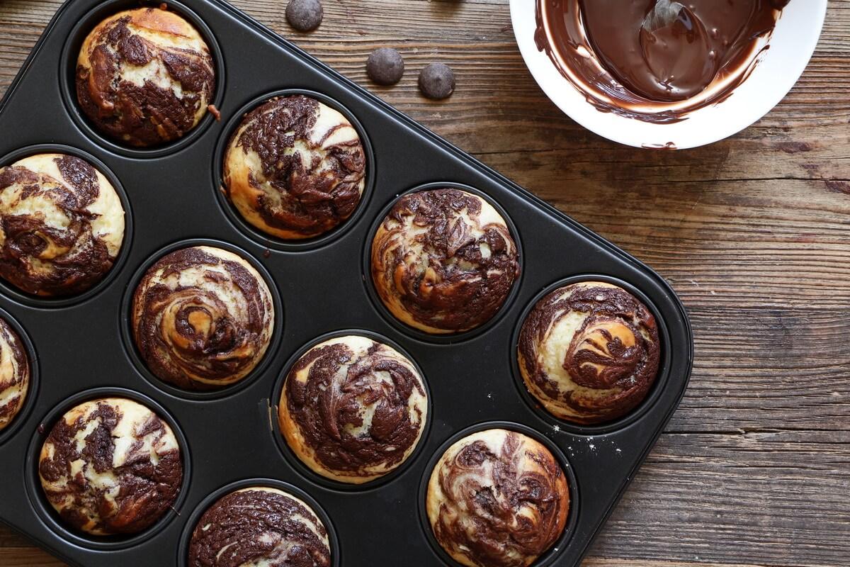 Chocolate Vanilla Swirl Muffins Neta Cooks